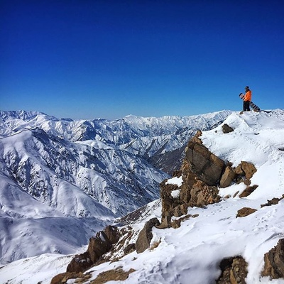 because we are constantly looking for a breath taking moments like this... #morning #snow #sky #moment #time #breathtaking #iran #landscape #mountains #snowboard #freeride #twoshots #winter #rocks